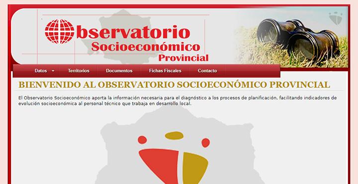 Web del Observatorio socieconómico provincial