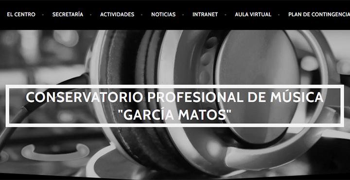 Web del conservatorio de música García Matos