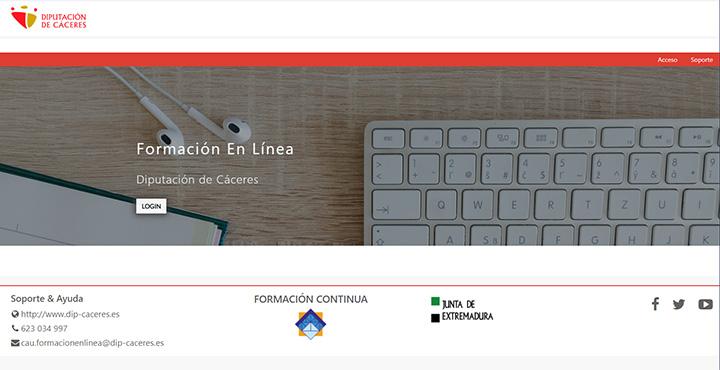 Web de formación en línea