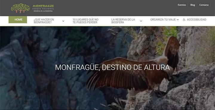 Web del parque Nacional de Mofragüe