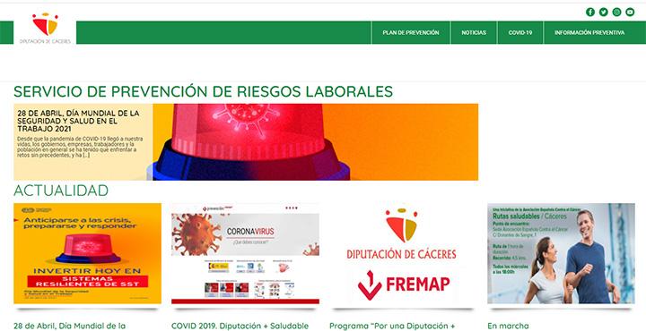 Web Prevención de Riesgos Laborales