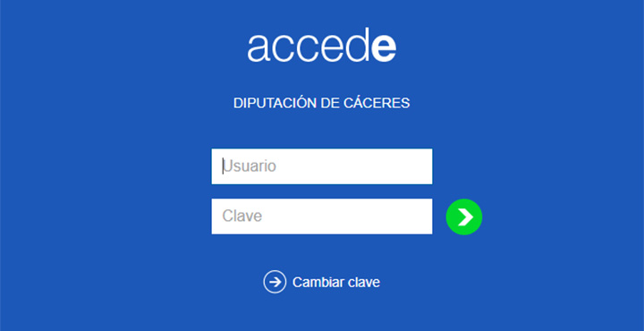 Web de aplicación Accede