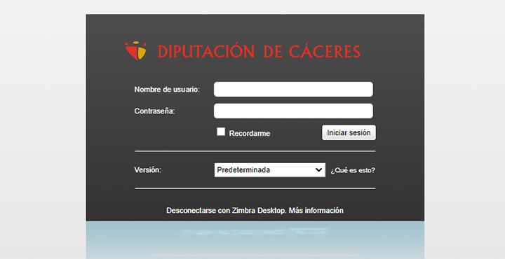 Web de correo Electrónico de Entidades Locales