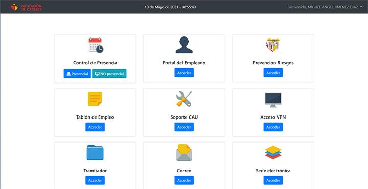 Web del Portal del Empleado