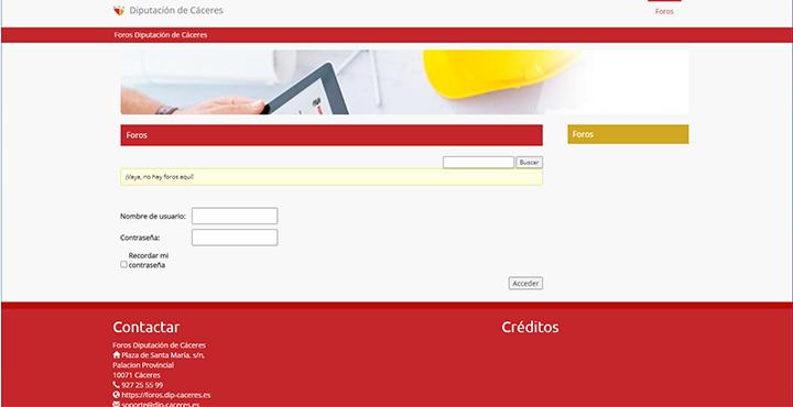 Web de Foros de Diputación