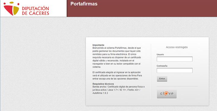 Web aplicación Portafirmas